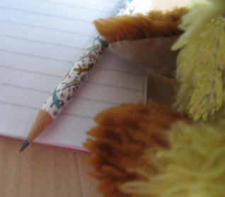 Yellow Teddy's pencil and pad
