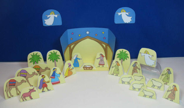 Colour and Cut Out Full Nativity