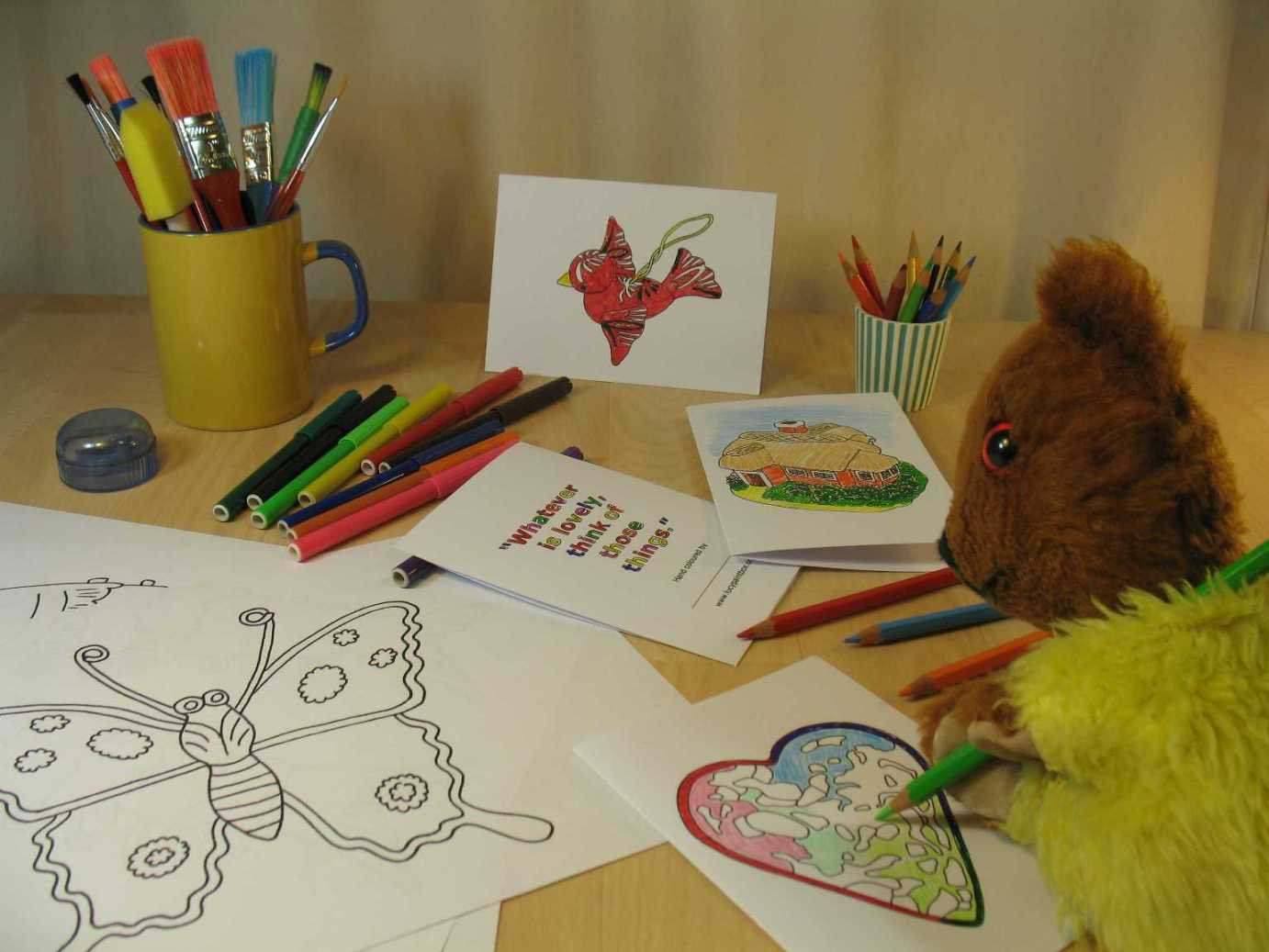 Yellow Teddy colouring