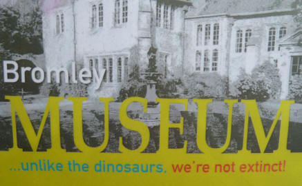 Bromley Museum poster re dinosaurs