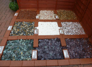 Coloured Stones For Gardens Yellow teddy stone chip samples pyracantha hedge workwithnaturefo