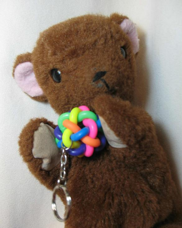 Brown Teddy's puzzle keyring