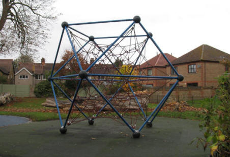 Giant Atom climbing frame in Orpington Priory park