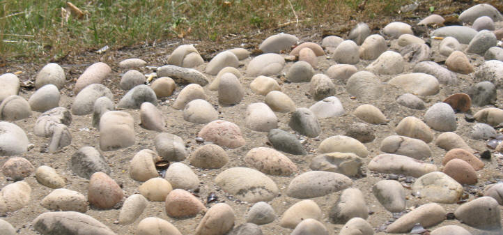 Stones that remind Dino of sugared almonds