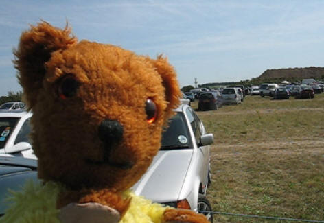 Yellow Teddy at a boot fair