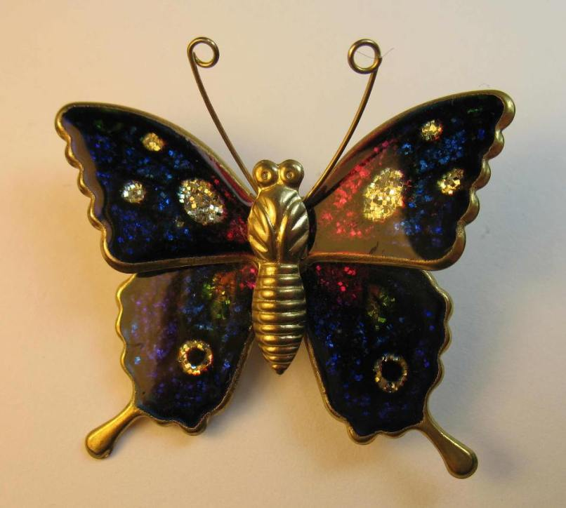 Sparkly butterfly brooch