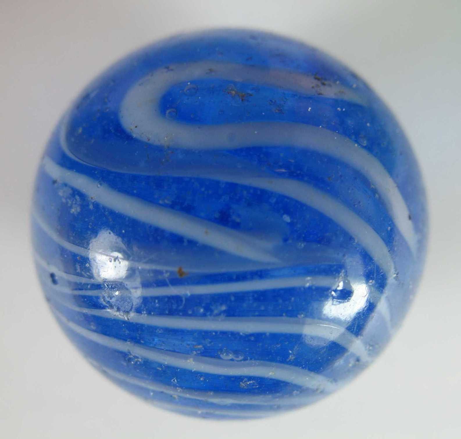 Blue swirly marble